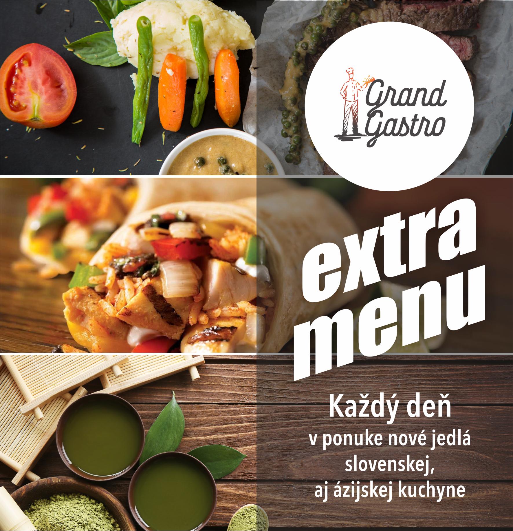 Naša ponuka extra menu