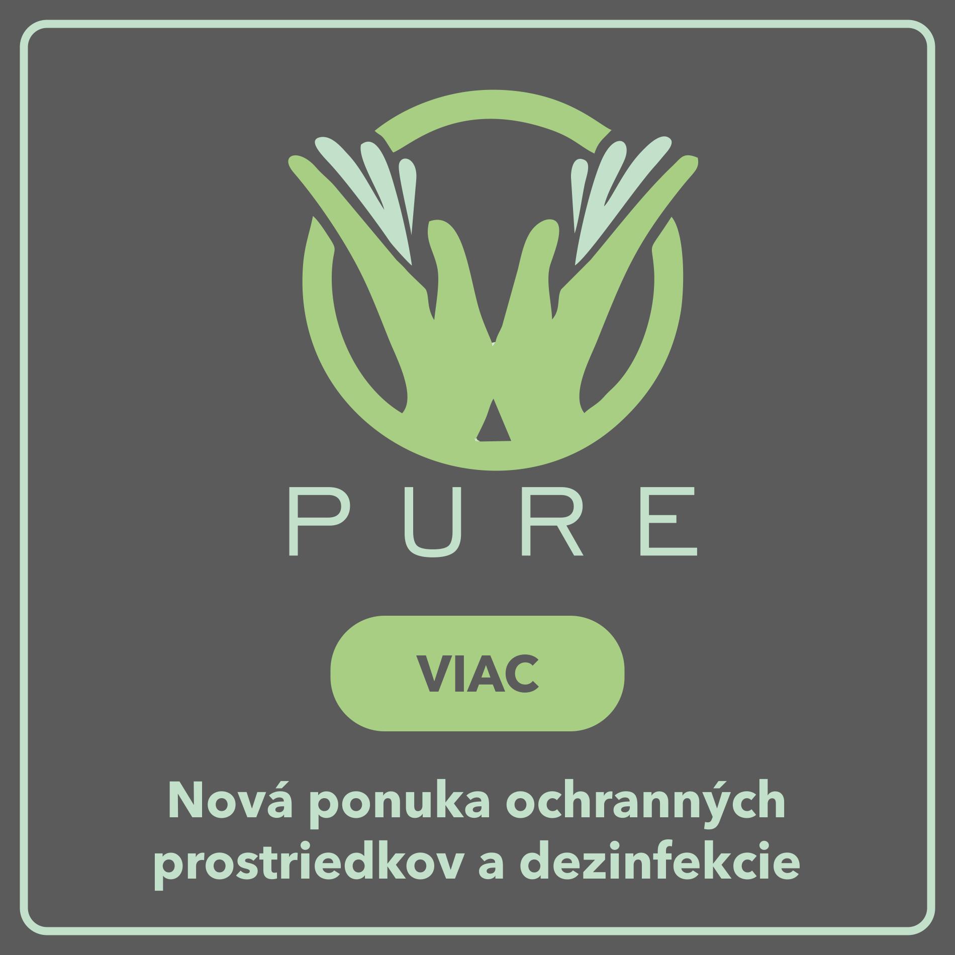 Pure - dezinfekčné prostriedky